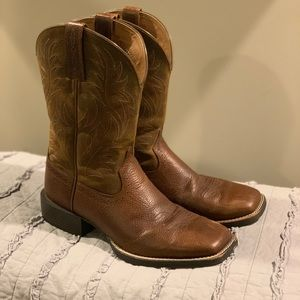 Ariat Sport Wide Square Toe Western Boot size 8D
